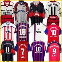 94 95 96 97 98 99 Bayern Munich Retro Jerseys 00 01 02 Elber Elber Zickle Efberg Elber Pizarro Scholl Matthaus Klinsmann كرة القدم القمصان 1997 1998 1999