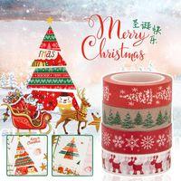 Merry Christmas Xmas Trees Surprise Decorative Postcard Washi Tape Adhesive DIY Scrapbooking Sticker Label Masking Gift Wrap