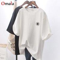 Été aléatoire Random lâche Harajuku Simple T-shirt Ulzzang Graphic T-shirts Femmes Beau Top Tea Top Blanc