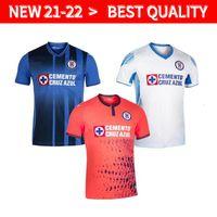Liga MX Campeonês 2021 2022 Cruz Azul Futebol Jerseys Rodriguez Pineda Alvarado Romo Home 3Rd 21/22 Homens + Kids Kits Sock Full sets camisa de futebol