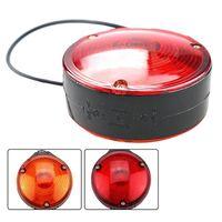 Nödlampor DHBH-2PCS Car Bulb Side Marker Light Double Face Red Amber Signall Lampa Varning för Truck Trailer