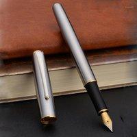 Fontein Pennen Hoge Kwaliteit Merk Hero 704 Pen Roestvrij staal 0.7mm Ink Briefpapier Office School Supplies1