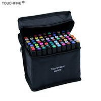 TouchFive 30/40/60/80/168 cores definido marcadores álcool tinta óleo dual pincel caneta manga estudante esboço desenho marcador arte suprimentos