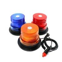 """비상 조명 4 """"인치 돔 12 LED 자석 마운트 자동차 자동차 경고 스트로브 라이트 비콘 호박색 빨간색 파란색 깜박임"""