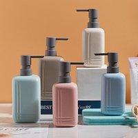 Liquid Soap Dispenser Ceramic Bottle 300 450ml Empty Press Type Shampoo Body Wash Lotion Bathroom El Travel Bottles