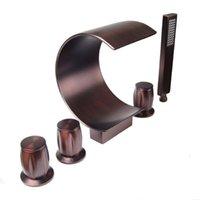 Fábrica Vidric Direct Orb Bathtub Mixer 5 pcs Torneira de enchimento generalizada Torneira de enchimento Banheiro Banheiro de banho Conjunto em petróleo esfregado bronz conjuntos