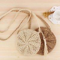 Storage Bags Ly Woven Straw Crossbody Cute Shoulder Bag Summer Beach Envelope For Women Girls