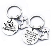 الفولاذ المقاوم للصدأ الممرضات المفاتيح أنا ممرضة جولة كيرينغ طالب الطبية هدية مجوهرات التبعي 28 ملليمتر مفتاح سلسلة بالجملة