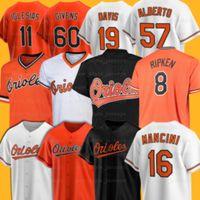 47 John означает Baltimores бейсбольные трикотажные изделия Orioles Cal Ripken Trey Mancini Brooks Robinson Roberto Alomar Mychal Givens Santander Richard Bleier Jose Iglesias X1