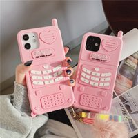 Cute Pink love heart kid girl gift Phone Cases For iphone 13 12 11 pro max mini XR XSmax 6 7 8 Plus SE X Soft Silicone Back Cover