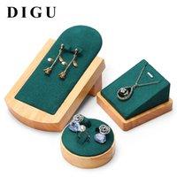 Digu Jewelry Display Props Pingente de Colar de Pingente Stand Solid Load Anel Brincos Brincos Conjunto De Conjunto de Combinação