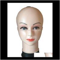 Têtes de soin Outils de coiffure PRODUITS PRODUITS DROP DROP DROP LIVRAISON 2021 HAUT QUALITÉ FEMME MANNEQUIN HAT PERSONNES PERMINES TORSO PVC Formation Femal Head Modèle
