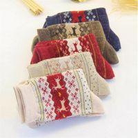 women's socks lady christmas gift fashion winter cute wool socks ladies crazy sock female thermal warm animal
