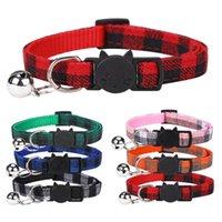 Собака Новый британский и цветной плед кошка пояса Pet Products Bell воротник JLIW