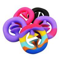 Sólido Rainbow Tie Dye Fidget Agarra a mano Snap de agarre Snappers Tiktok Toyk Toys Muñeco Ejercicio Ejercicio Brazo Entrenamiento Músculo Fuerza Publicidad Grabs Anillo Juego de Familia G513NP8