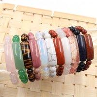 Elegant Women Charm Bracelets Natural Stone Crystal 8mm Beads Love Heart DIY Handmade Jewelry 1pcs Beaded, Strands
