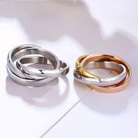 الكلاسيكية 3 جولات الفرقة حلقة مجموعات للنساء المقاوم للصدأ الزفاف الاشتباك الإناث الأزياء خواتم الاصبع خمر مجوهرات الهيب هوب الملحقات