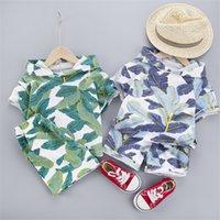 Hawaii Bambino Vestiti 1-4 anni Ragazzi Cappucci con cappuccio T-shirt Pantaloncini 2 Pz Bambini Bambini Costume Cotton Infant Bambini Abbigliamento per bambini Abiti 709 x2