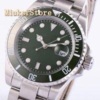 40 мм Зеленый Сапфир Кристалл наливает acier inoxydable Poignet Аналогический монтр Hommes Marque Horloge Водонепроницаемый Женщина Человек Смотреть наручные часы