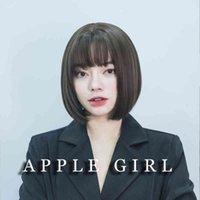 Courte perruque coréenne mignonne visage rond fille fille clavicule cheveux plein ensemble chocolat bobo tête