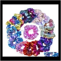 Aessories Baby, Kids Maternity Glitter Lady Girls Scrunchies Ring Elástico Bandas de pelo Puro Color Bobble Sports Dance Veet Soft Charming Scru