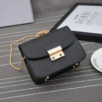 Boş zaman luxurys yeni çanta2021 kadın moda omuz ve basit kare zincir ile bahar eğimli tatlı bir küçük yaz eqtcm