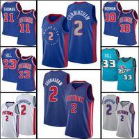 "Detroit ""Piston"" Jersey 2 Cade Catingham Basketbol 33 Ewing Isiah 11 Thomas Dennis 10 Rodman Grant"