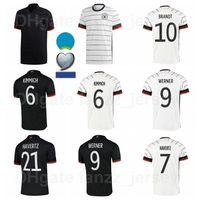 Europa Copa National Soccer Alemanha Jerseys Black Branco 9 Volland 6 Kimmich 1 Neuer 21 Gundogan 5 Hummels 14 Musiala Camisa De Futebol Kits Euro Patch