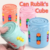Coke Rubik's Cube With box Finger Top Toys Children's Creative Decompression Fun Funs Can Magic Bead Intellectual Rotating Game Toy