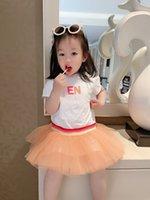2021 niños niñas vestido verano bebé niña algodón manga corta tutu vestidos niños vestido de encaje de fiesta de cumpleaños