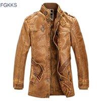 FGKKKS Winter Herren Lederjacke Wildleder Mode Qualität Marke Wolle Futter Motorrad Künstliche Mantel J0603