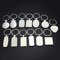 Sublimation Blank keychains Round Love Keyring Party Favor Iewelry Thermal Transfer Printing Chinese style key buckle Q84