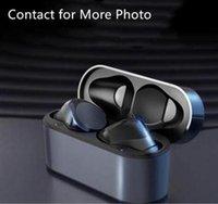 Wirless fone de ouvido fone de ouvido chip transparência metal renomear gps wireless carregando bluetooth fones de ouvido geração na orelha detecção para celular qualidade superior
