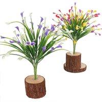 Dekorative Blumen Kränze Blumenstrauß Mini Künstliche Calla mit Blatt Seide Gefälschte Lilie Wasserpflanzen Home Room Dekoration Blume