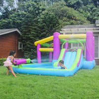 Garden Supplie Outdoor Kids Summer Funny Inflatable Castle Jumping Games Jump Castles with Slide Combo Bouncy Jumper Wholesale Manufacturer Price Directly Sale