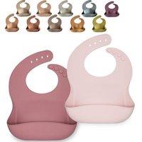 18 Colors Baby Silicone Feeding Bib Cartoon Waterproof Food Grade Newborn Apron Adjustable Ins Saliva Towel Bibs & Burp Cloths