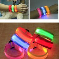 Charm Bracelets 2021 Sports Equipment LED Luminous Armband Night Running And Riding Safety USB Charging His Hers Bracelet Wristband