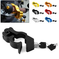 Motorcycle Grip Lock Cnc Security Safety Locks Handlebar Handset Brake Lever Disc Locking Fit Scooter Atv Anti-theft Motor Theft Protection