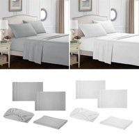 Bedding Sets Bed Sheet Set Microfiber 1800 - Wrinkle, Fade, Stain Resistant 3 Or 4 Piece (White, Gray)