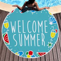 Beach Towels Tropical Printed Large Outdoor Camping Picnic Microfiber 150x150cm Round Fabric Bath Towel For Living Room Home Decorative 18 style