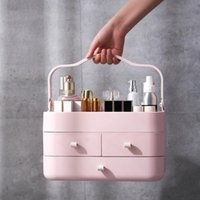 Storage Boxes & Bins Portable Makeup Organizer Lipsticks Stand Brush Holder Jewelry Case Large Capacity Drawers Container Cosmetic Box Shelf