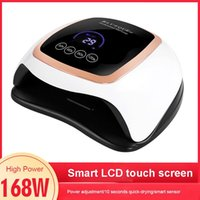 Nail Dryers 168W Light LED UV Dryer Smart LCD Display Manicure Lamp Therapy Machine Lady Art Tools