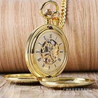 Classic double open cover two side light Roman manual mechanical pocket watch a variety of mechanical watches