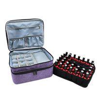 Grids Nail Polish Storage Bag 30 42 44 70 Cosmetic Essential Oil Perfume Double-Layer Portable Lipstick Organizer Box Handbag