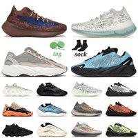 2021 Varış Koşu Ayakkabıları 450 Kanye 700 V2 Boyutu 12 Erkek Kadınlar Mavi Alien Azure 380 Yansıtıcı Bulut Beyaz Mist Eğitmenler Sneakers 36-46