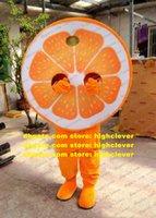 Orange Arancia Mandarin Mandarinin Mandarino Maskottchen Kostüm Cartoon Charakter Jährliches Symposium Werbeartikel ZX1649