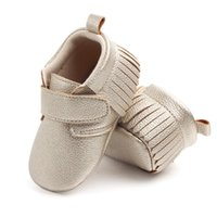 First Walkers MUPLY Brand Born Baby Girl Bow Princess Shoes Soft Sole Crib Leather Solid Buckle Strap Flat With Heel