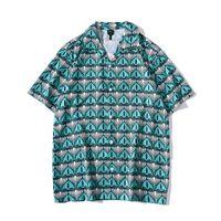 Unisex Beach Tops Lose Paare geknöpfte Bluse Strickjacke gedruckt Kurzes Hemd 2021 Casaco de Praia Com Estampa Curta Herren Lässige Hemden