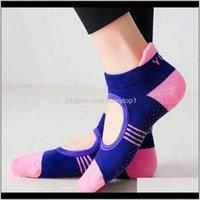 Ankunft Frauen Mädchen Winter Herbst Yoga Gym Dance Übung Atmungsaktive Anti Slip Socke 3Appf TXN9B