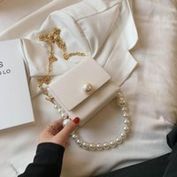 Evening Bags Mini Pearl Beaded PU Leather Crossbody Bag 2021 Women Sweet Shoulder Handbags Fashion Trendy Purses